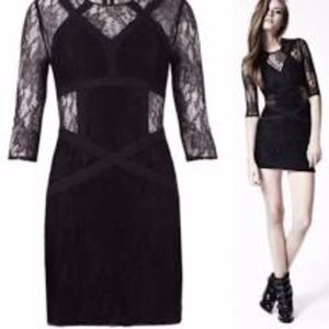 "ALL SAINTS DRESS BLACK LACE ""NEELY"" MED NWOT"